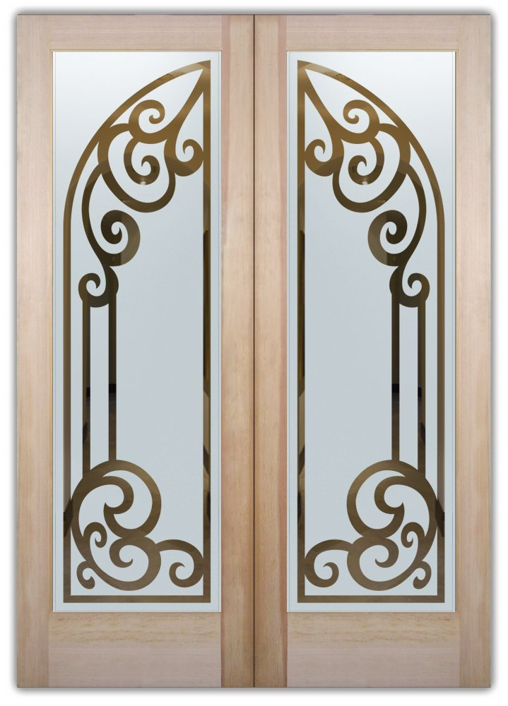 Concorde Arched Etched Glass Front Doors Tuscan Design