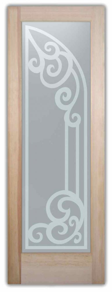 Cncrd Arched Tuscan Design Interior Etched Glass Doors
