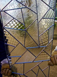 Entry Door Inserts with Leaded Glass confetti by Sans Soucie