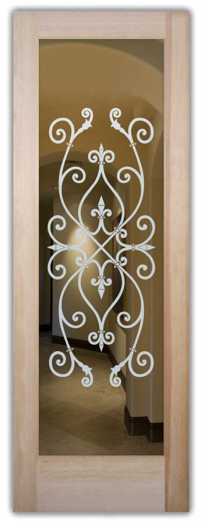 etched glass door corazones 1d positive
