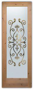 glass front doors etched glass iron gates hispanic mediterranean decor sans soucie corazones