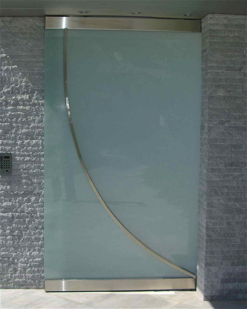 Entry Gate Frameless Frosted Glass Modern by Sans Soucie