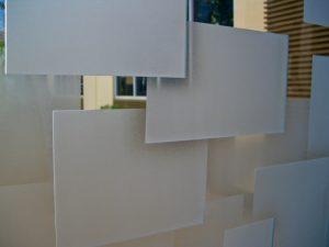 Glass Windows Glass Carving Geometric cubes Sans Soucie