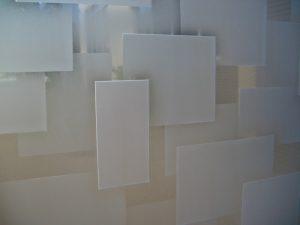 Sans Soucie Glass Windows Carved Glass Geometric cubes