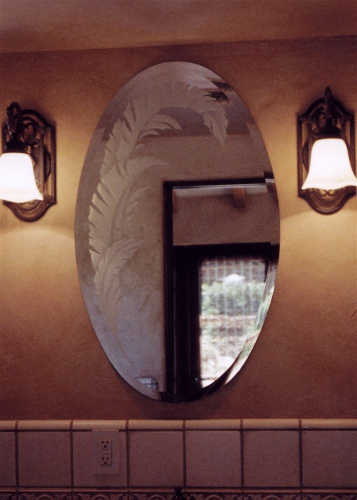 Custom Mirrors Accent Leaves Sans Soucie