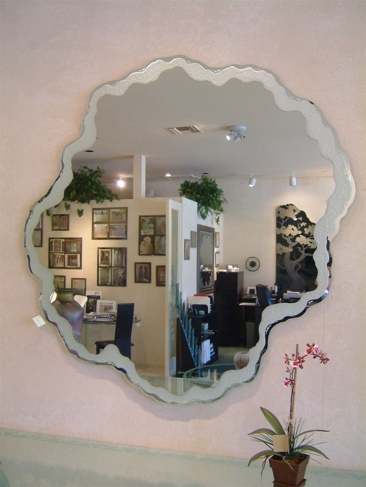 Custom Mirrors Sea Foam Sans Soucie