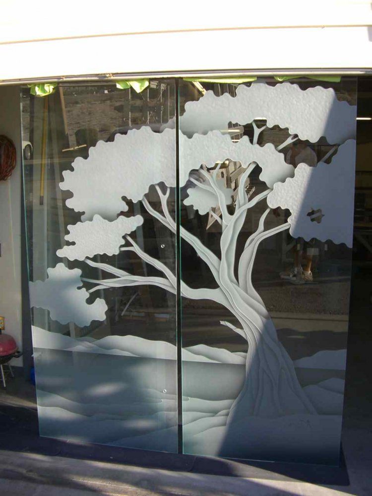 Cypress Tree Frameless Glass Doors Sans Soucie