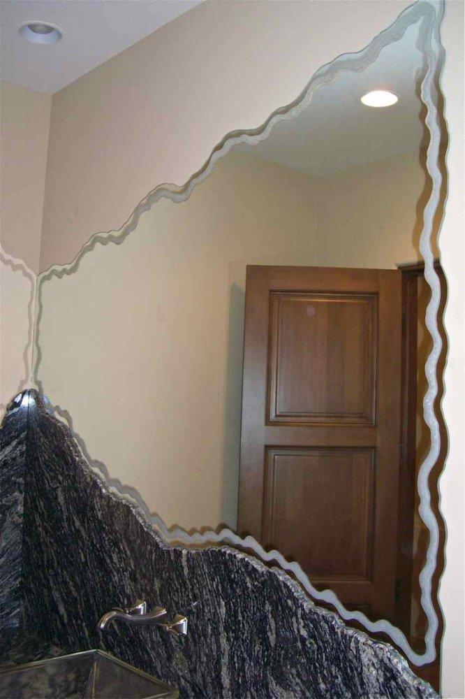 Free Flow Sea Foam Decorative Mirror Sans Soucie