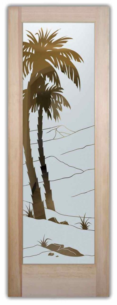 interior doors with glass custom glass palm trees windy sandy ocean beach decor sans soucie desert palms