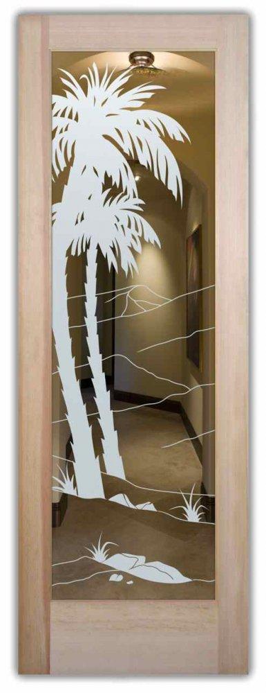 Dsrt Plms Interior Doors With Glass Etching Western Design