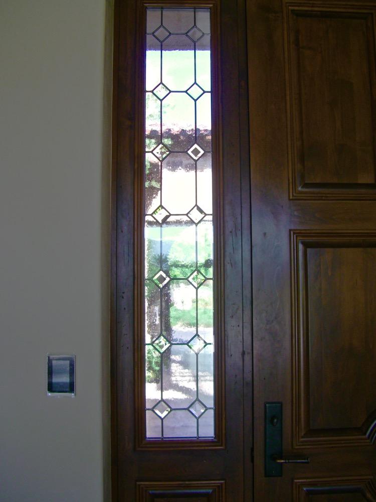 Seedy Diamonds Glass Window Leaded Glass Tuscan Decor