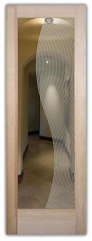 front doors with glass glass etching yin and yang wavy art deco style sans soucie divise stripes
