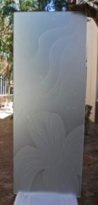 hibiscus waves etched glass beach decor
