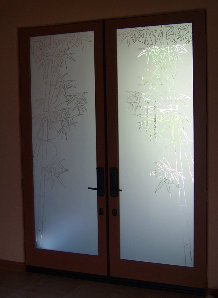 Door Glass Inserts Bamboo Entry Sans Soucie