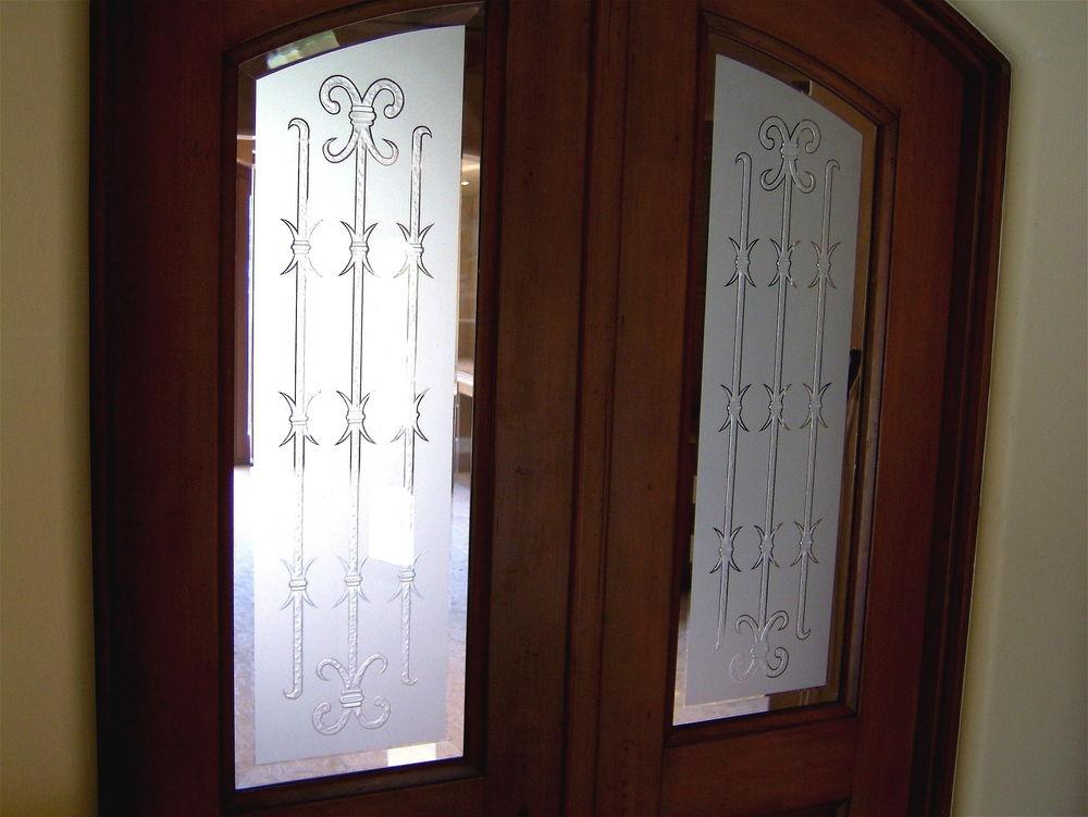 Barbed iron bars door glass inserts sans soucie for Door window inserts