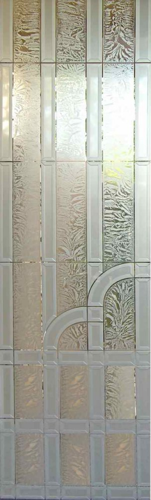 Door Inserts with Carved Glass Etching Art Deco Traditional by Sans Soucie