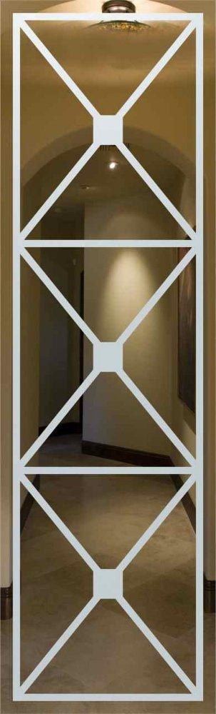 Door Glass Inserts Cross Hatch Sans Soucie