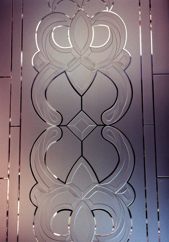 Door Glass Inserts Faux Leaded Carved Sans Soucie