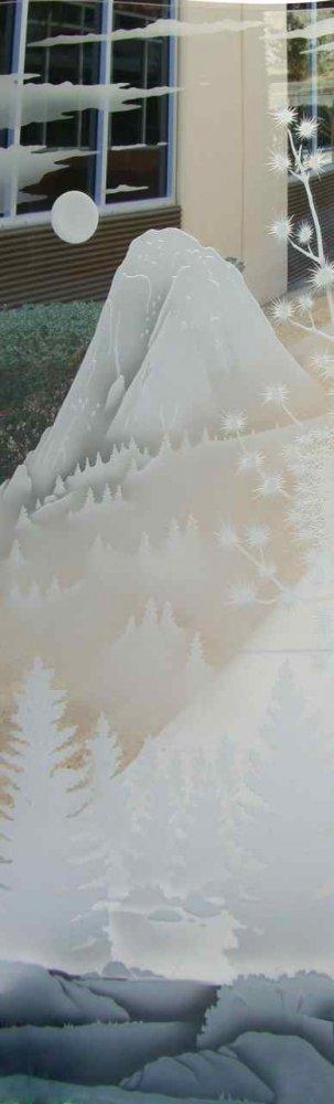 Door Glass Inserts Idyllwild Tahquitz Peak 3D Sans Soucie