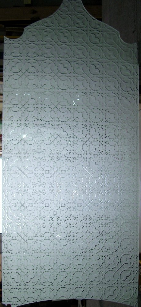 Door Insert Panels with Etched and Craved Glass by Sans Soucie
