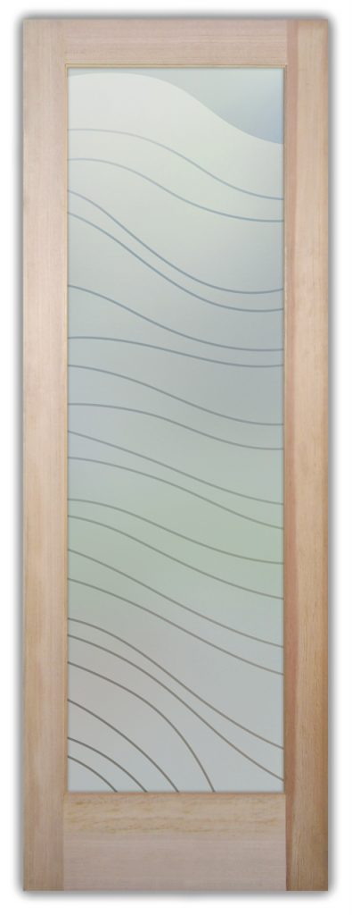 Dreamy Waves 1D Private Etched Glass Doors