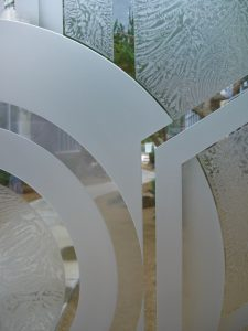 Entry Doors Etched Glass Geometric Sans Soucie