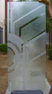 Entry Door and Window Frosted Glass Contemporary Sans Soucie