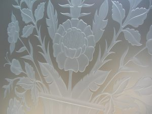 Glass Door Inserts Carved Glass Foliage hummingbird Sans Soucie
