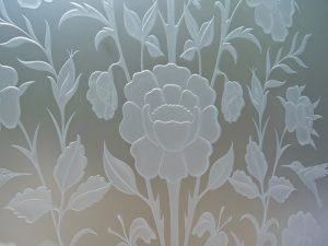 Glass Door Inserts Etched Glass Floral hummingbird Sans Soucie