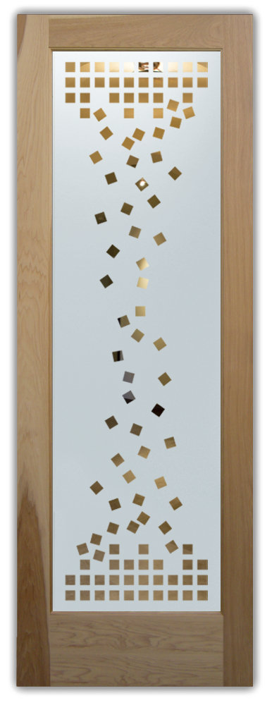 Falling Squares Pantry Door By Sans Soucie Art Glass