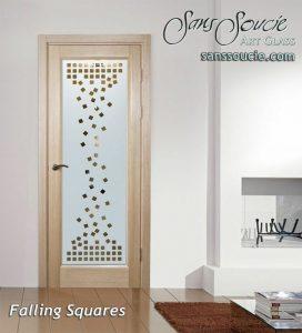 front doors with glass custom glass cubes blocks art deco design sans soucie falling squares