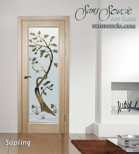 interior glass doors glass etching asian style trees natural sapling sans soucie