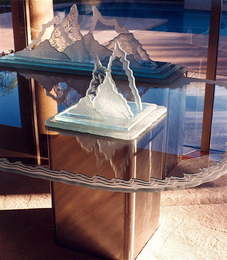 Glass Coffee Tables Glaciers Sans Soucie