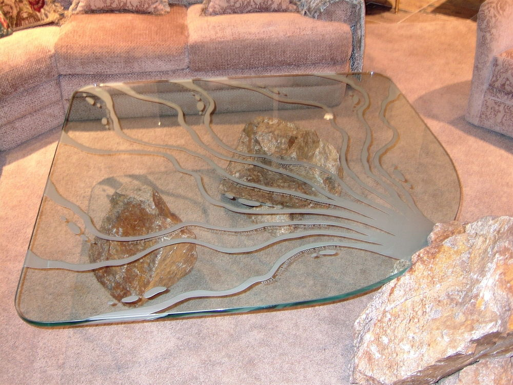 Glass Coffee Tables Living Water Sans Soucie
