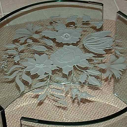 Glass Coffee Tables Roses Sans Soucie