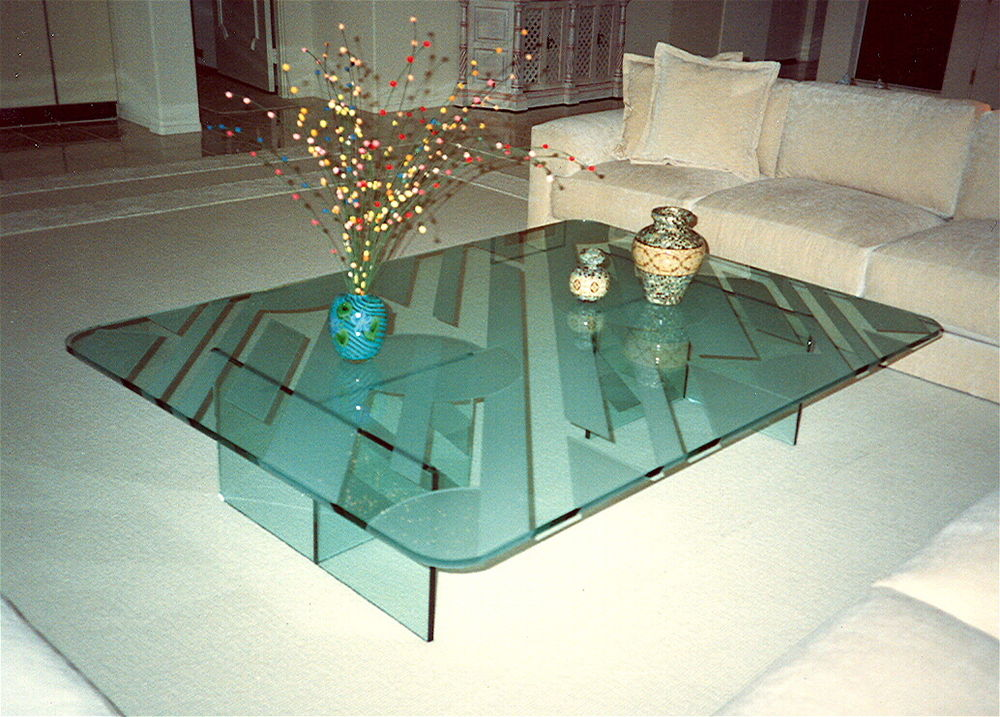Glass Coffee Tables ~ Sophistication glass coffee tables sans soucie