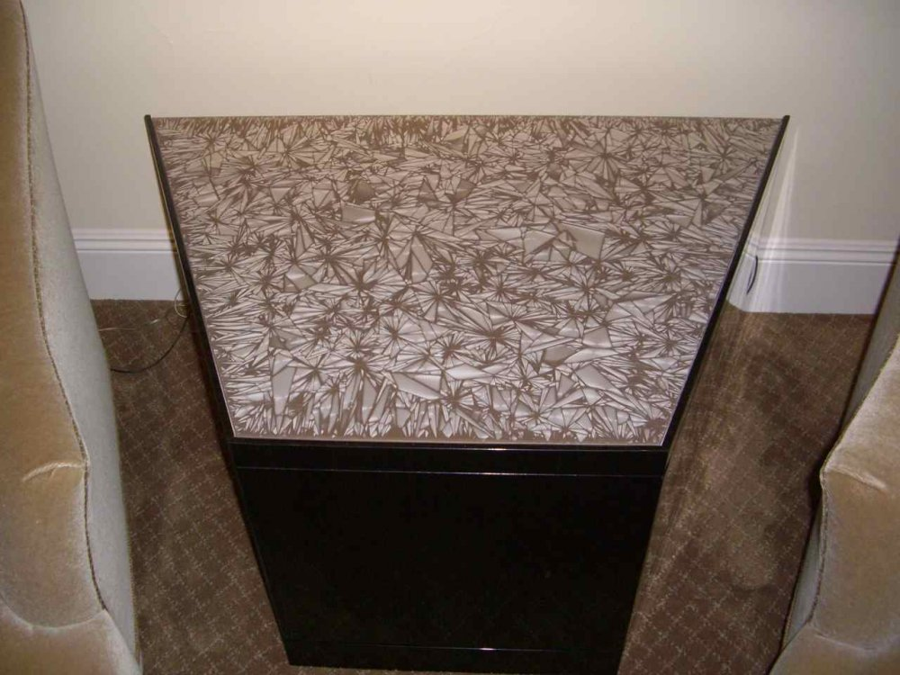 Glass Coffee Tables Painted and Speckled brown by Sans Soucie