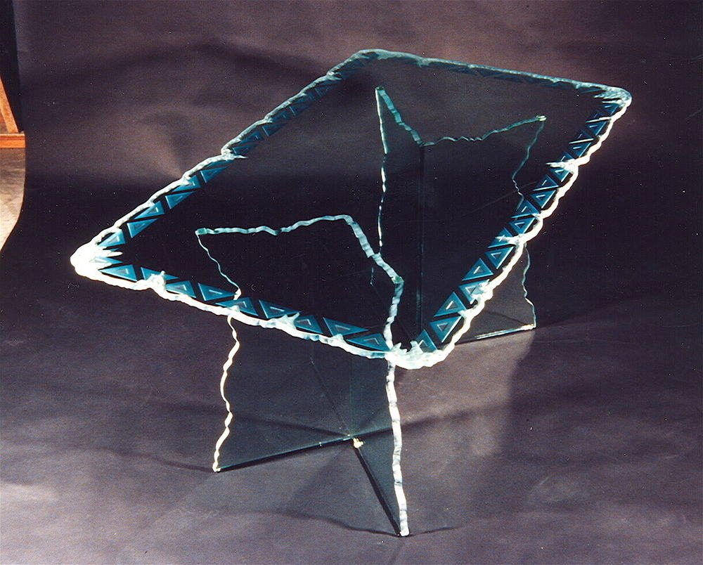 Glass Dining Tables Chevron Moonscape Sans Soucie