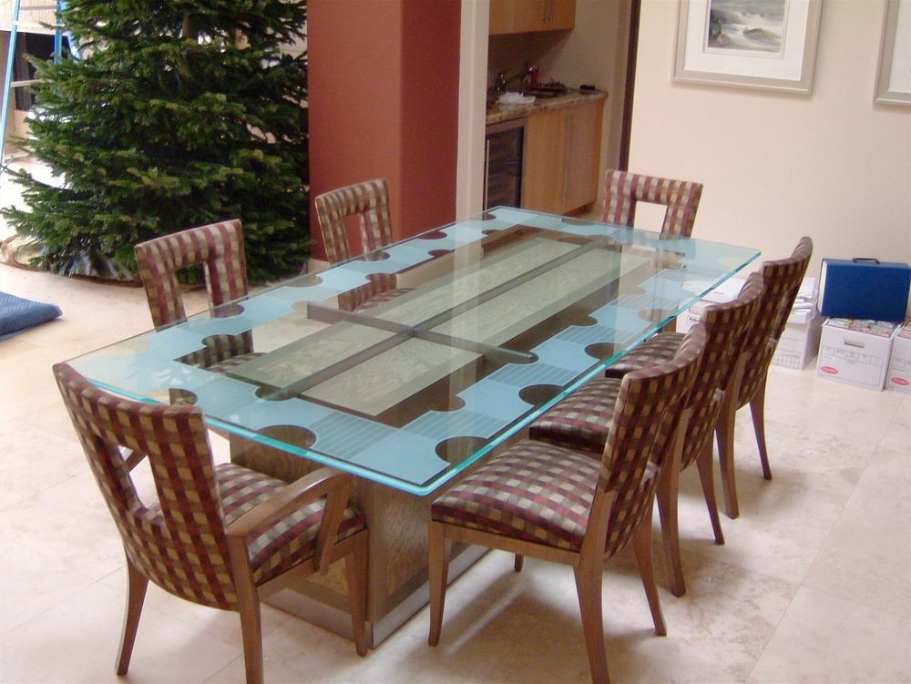 Geometric Isomer L Glass Dining Tables Sans Soucie