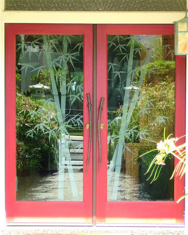 Glass Door Inserts Bamboo Double Entry Sans Soucie