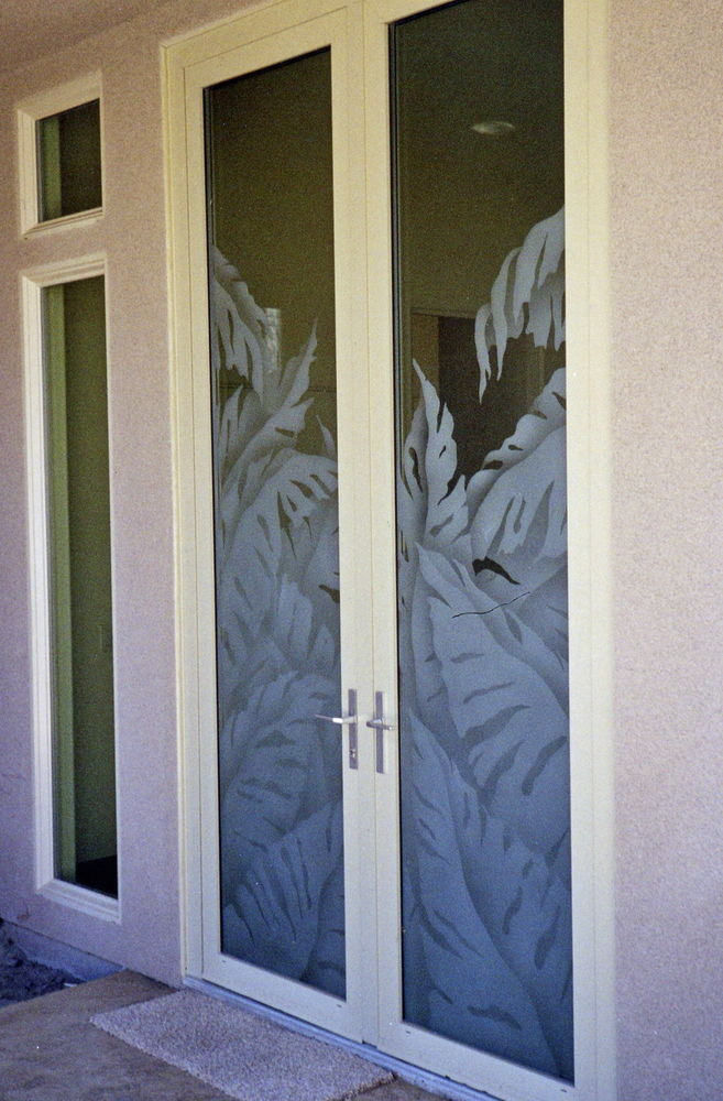 Glass Door Inserts Banana Leaves l Sans Soucie