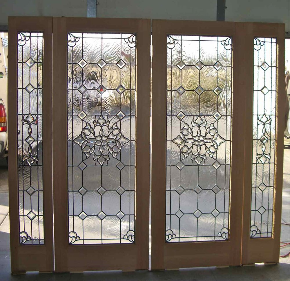 Bevel clusters entry ii glass door inserts sans soucie leaded beveled glass doors and windows taffeta glass by sans soucie rubansaba