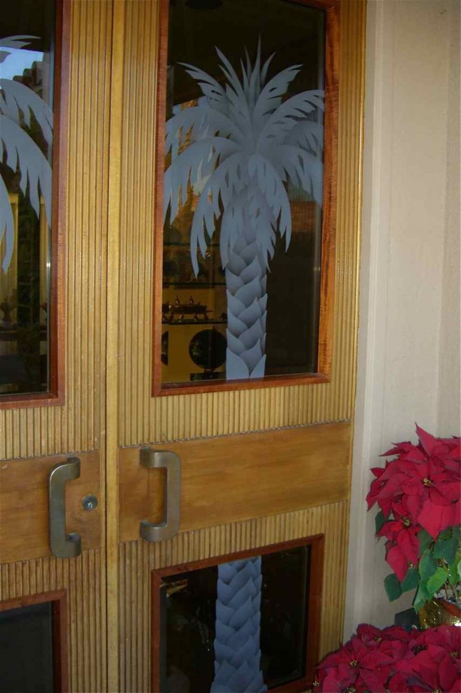 Glass Door Inserts California Fan Palms Sans Soucie
