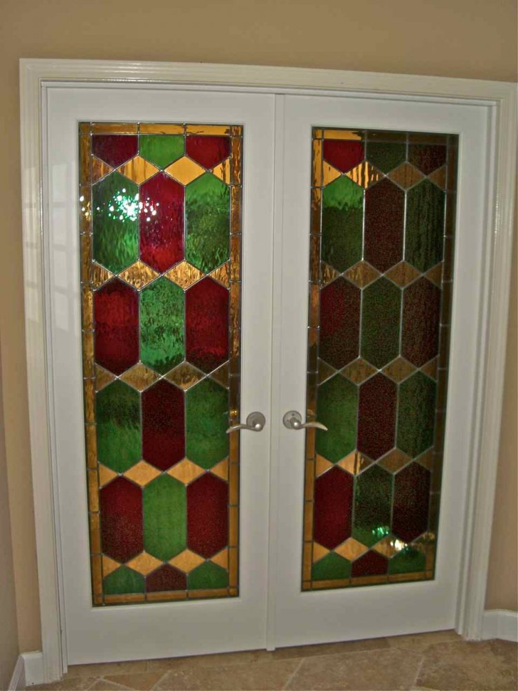 Camelot stained glass door inserts sans soucie for Door glass inserts