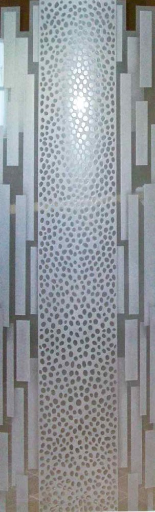 Glass Door Inserts Carved and Etched African cheetah bard by Sans Soucie