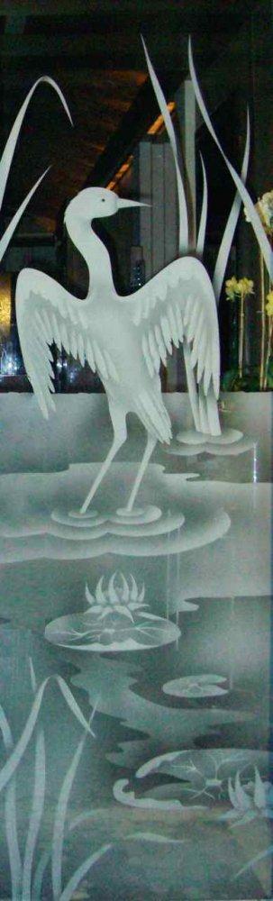 Glass Door Inserts Cranes l 2D Sans Soucie