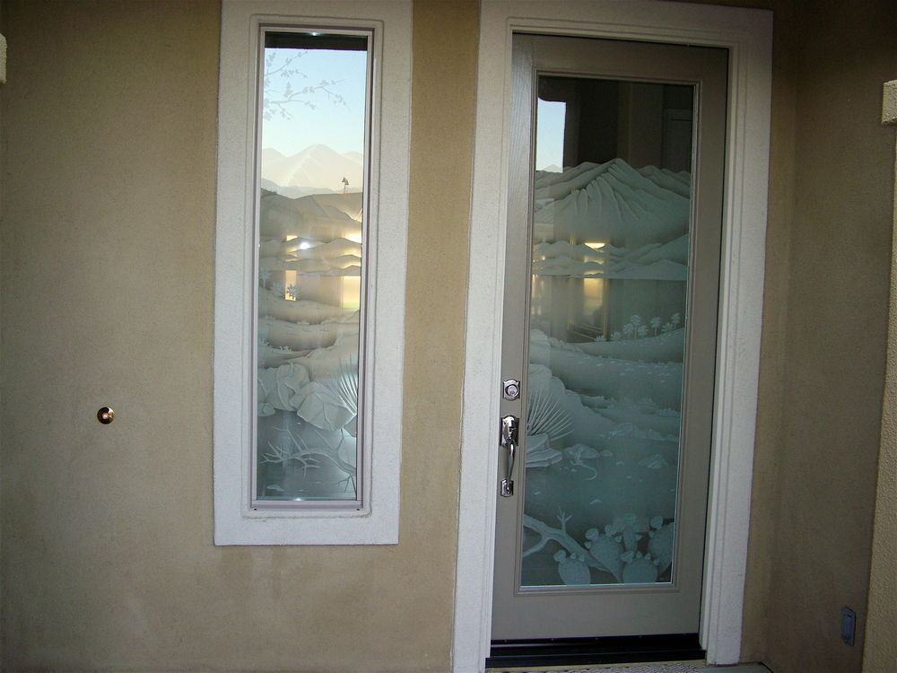 Glass Door Inserts Desert Landscape Sans Soucie