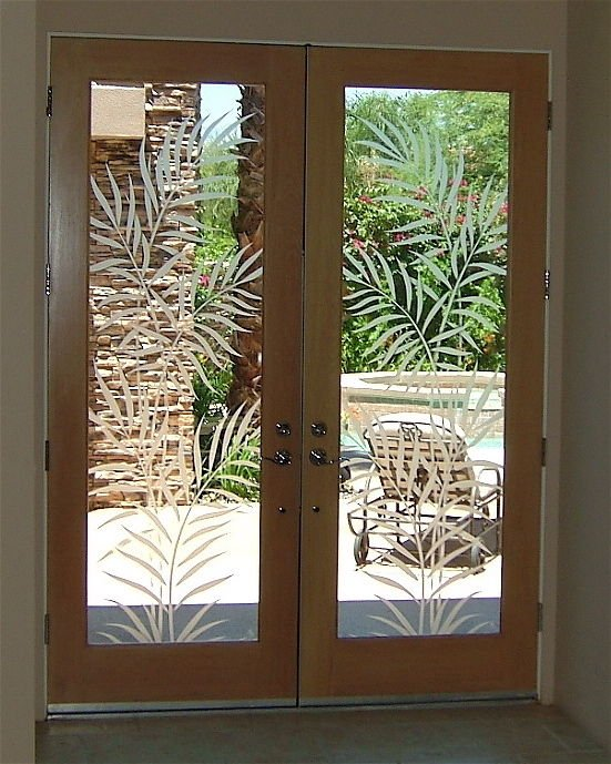 Entry Door Inserts With Etched Glass Tropical By Sans Soucie