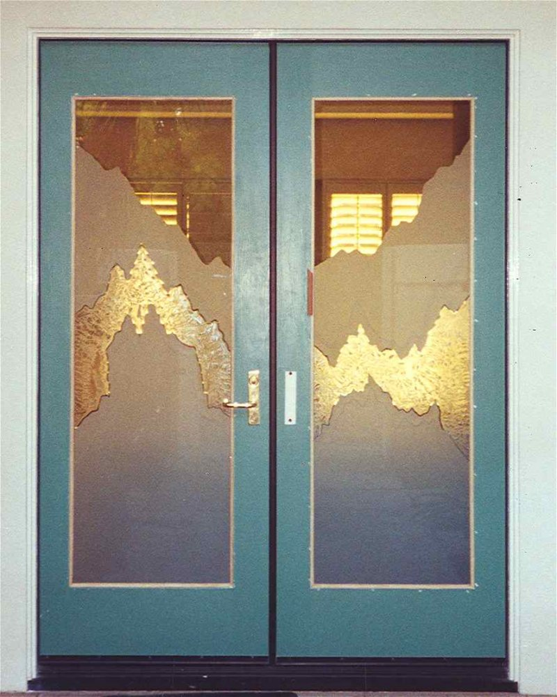 Glass Door Inserts Jagged Edges Sans Soucie