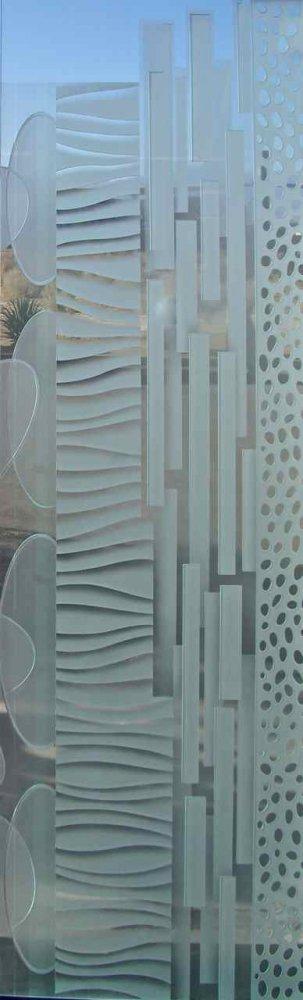 Glass Door Inserts Nokes Pattern 3D Sans Soucie